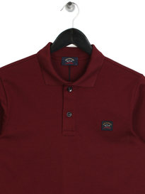 Paul & Shark Long Sleeved Polo Shirt Burgundy