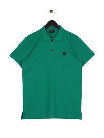Paul & Shark Knitted Polo Shirt Green