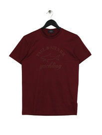 Paul & Shark Chest Logo T-Shirt Burgundy