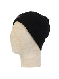 Paul & Shark Logo Beanie Black