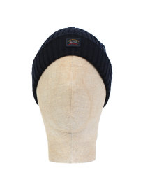 Paul & Shark Logo Beanie Navy