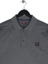 Paul & Shark Logo Polo Long Sleeve Shirt Grey