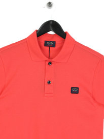 Paul & Shark Logo Polo Shirt Pink
