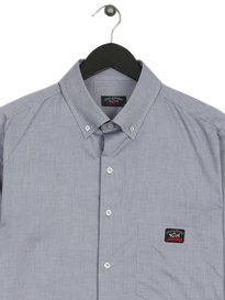 Paul & Shark Long Sleeve Oxford Shirt Blue
