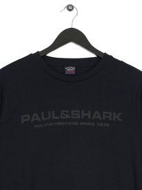 Paul & Shark Mesh Logo Crew Navy