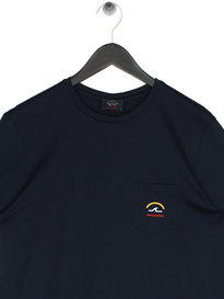 Paul & Shark Pocket Logo T-Shirt Navy