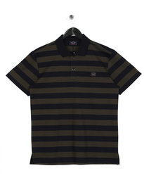 Paul & Shark Stripe Polo Shirt Green