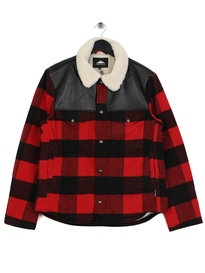 Penfield Flatrock Buffalo Check Jacket Red