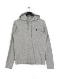 Polo Ralph Lauren Basic Hooded LS T-Shirt Grey