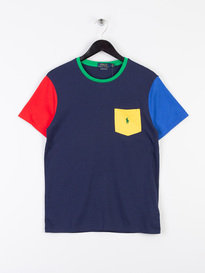 Polo Ralph Lauren Colourblock Pocket T-Shirt Multi