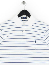Polo Ralph Lauren Pima Stripe Polo Shirt White