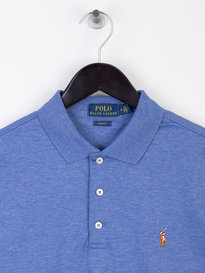 Polo Ralph Lauren Plain Pima Short Sleeve Polo Shirt Blue