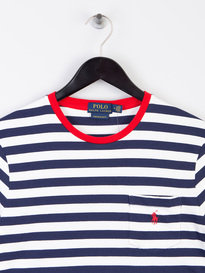Polo Ralph Lauren Stripe Pocket T-Shirt White/Navy