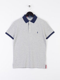 Polo Ralph Lauren Tipped Placket Short Sleeve Polo Shirt Grey