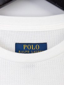 Polo Ralph Lauren Underwear Mini Waffle Long Sleeve T-Shirt White