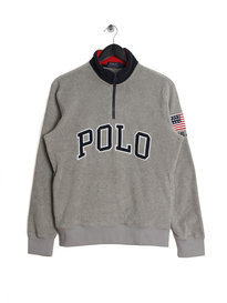 Ralph Lauren Polo Half Zip Polar Fleece Grey