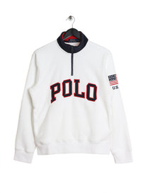 Ralph Lauren Polo Half Zip Polar Fleece White