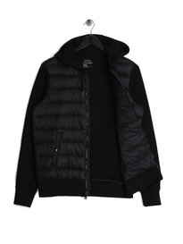 Ralph Lauren Polo Hybrid Hooded Padded Jacket Black