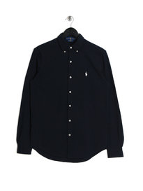 Ralph Lauren Polo Mesh LS Shirt Navy