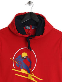 Ralph Lauren Polo Ski LS Hooded Top Red