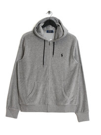 Ralph Lauren Polo Velour Hoody Grey