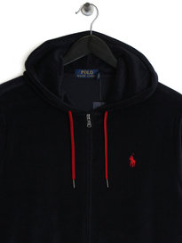 Ralph Lauren Polo Velour Hoody Navy