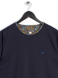 PRETTY GREEN BELGRAVE LS CREW NAVY