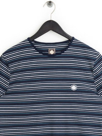 Pretty Green Argenta Striped T-Shirt Navy
