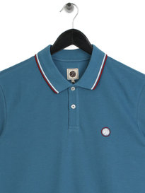 Pretty Green Barton Tipped Polo Blue