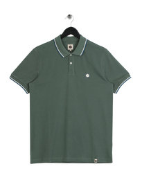 Pretty Green Barton Tipped Polo Olive Green