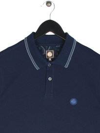Pretty Green Barton Tipped Short Sleeve Polo Navy