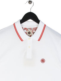 Pretty Green Barton Tipped Short Sleeve Polo White