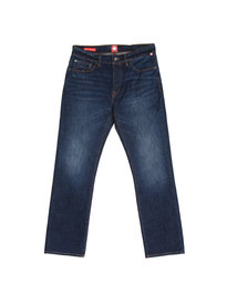Pretty Green Burnage Regular 6 Months Wash Blue Denim