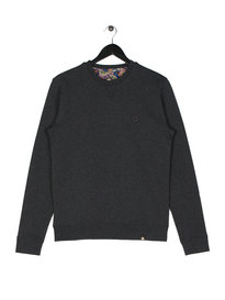 Pretty Green Clements Long Sleeve Crew Sweat Grey