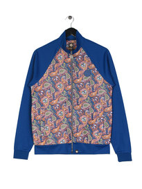 Pretty Green Corrigan  Paisley Track Top Blue