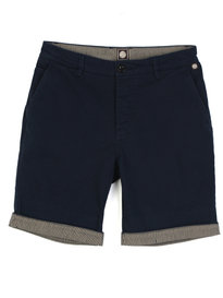 Pretty Green Cotton City Shorts Navy