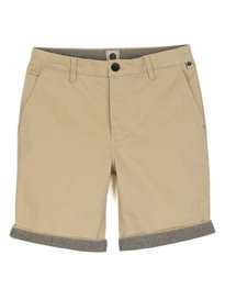 Pretty Green Cotton City Shorts Stone Grey