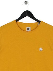 Pretty Green Cotton T-Shirt Yellow