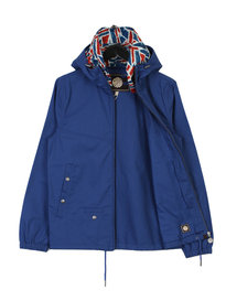Pretty Green Cotton Zip Jacket Blue