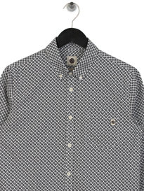 Pretty Green Diamond Print Shirt Black