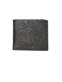 Pretty Green Embossed Bi-Fold Wallet Black