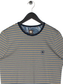 Pretty Green Feeder Stripe T-Shirt Navy