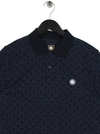 Pretty Green Feldon Textured Polo Navy