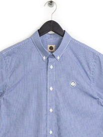 Pretty Green Gingham Check Shirt Navy