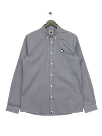 Pretty Green Glendale Gingham Long Sleeve Shirt Navy