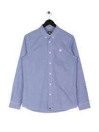 Pretty Green Hendry Gingham Long Sleeve Shirt Blue