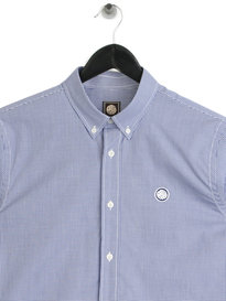 Pretty Green Hendry Long Sleeve Gingham Shirt Blue