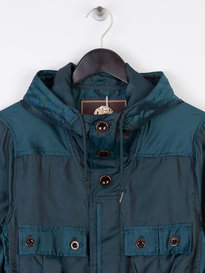 Pretty Green Iridescent Hooded Jacket Green