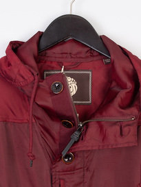 Pretty Green Iridescent Hooded Jacket Red