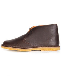 Pretty Green Leather Desert Boot Brown